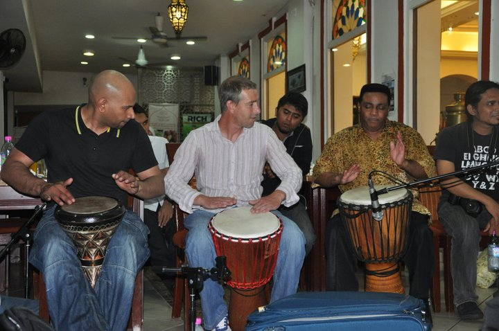 Andy mason and friends in Koala Lumpur-African drumming workshops-African drumming-drumming workshops-african drumming workshops for schools-drumming workshops for schools-limbo dancer-limbo dance-limbo dancing-limbo dance workshops-limbo dancing workshop-dance workshops for schools-african dance workshops for schools-african dance